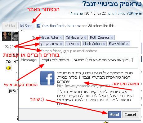 ממשק השליחה החדש של פייסבוק