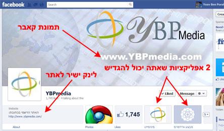 טיימליין לעמודי פייסבוק