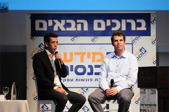 """מנכ""""ל גוגל - מאיר ברנד עם גיא לרר. צילום: יח""""צ"""